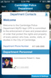 MyPD App Contact List Cambridge Police